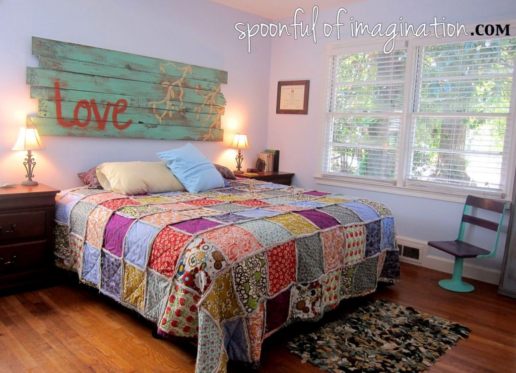 DIY King Size Rag Quilt {Repost} - Spoonful of Imagination : bedroom quilts - Adamdwight.com