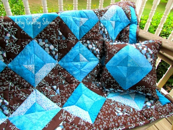 Summer Jewels Quilt and PIllow