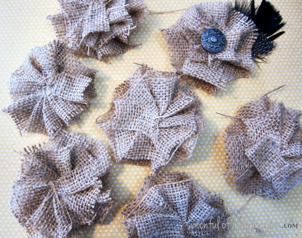 DIY Burlap Hair Bow Spoonful of Imagination