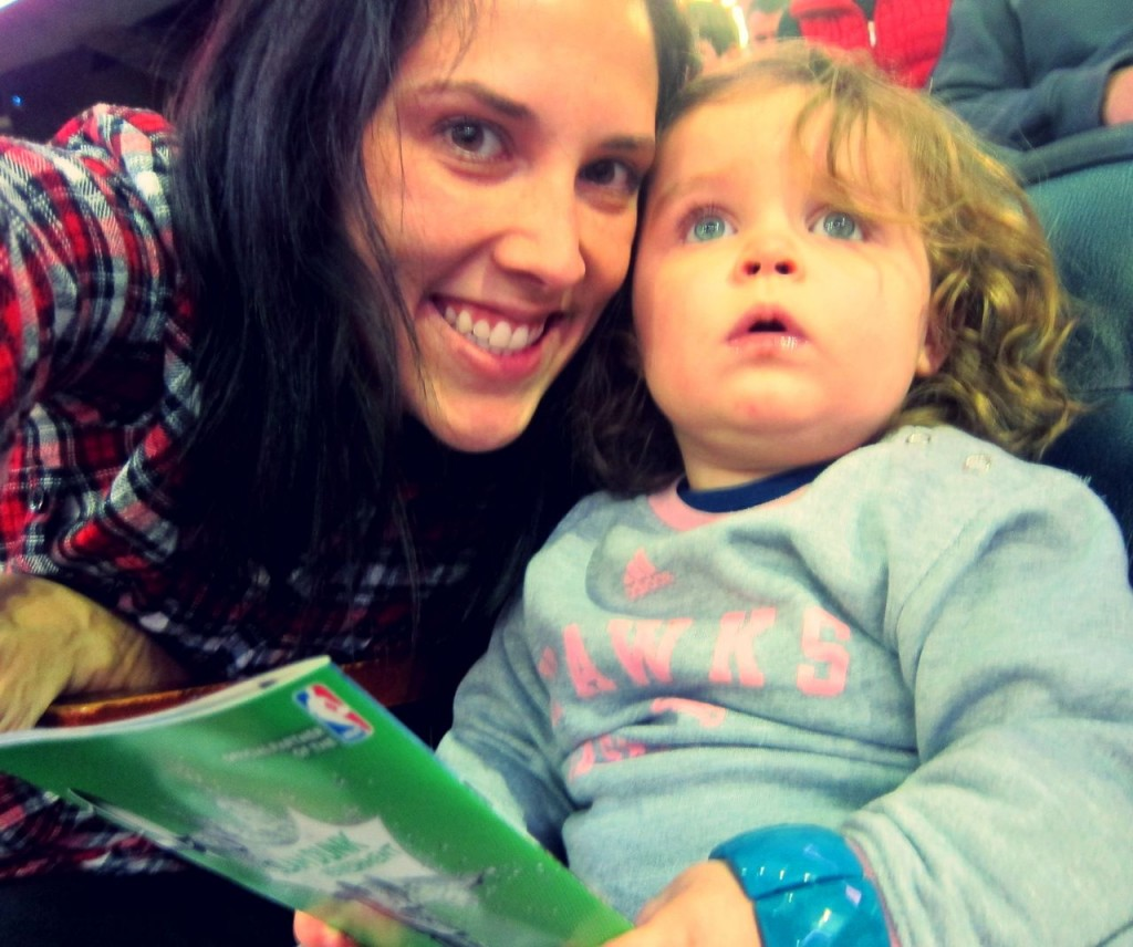 keeping a toddler entertained at an arena