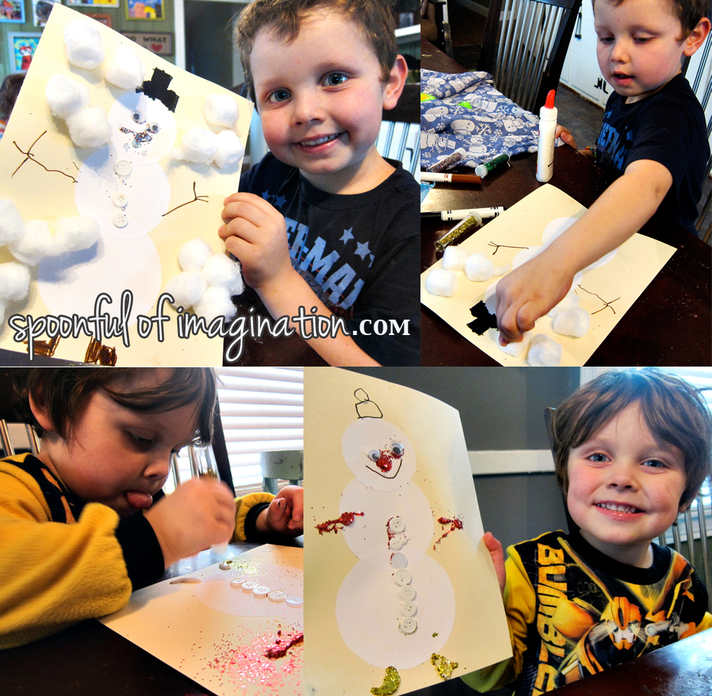 kid snowman craft