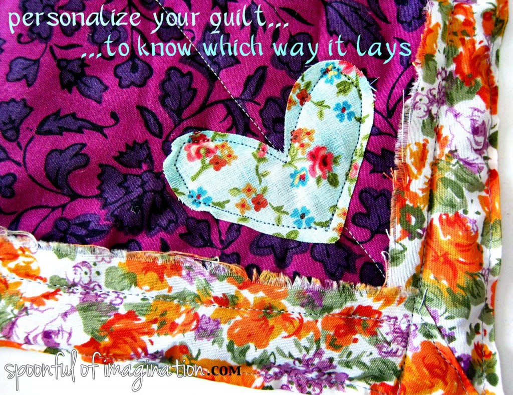 personalize your quilt