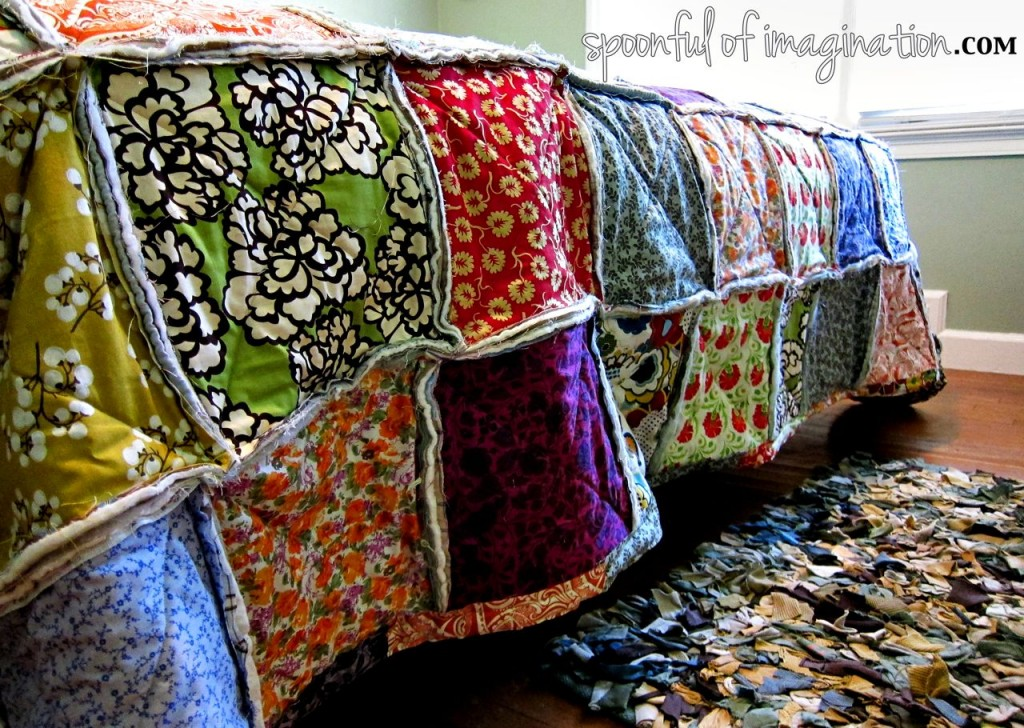 DIY King Size Rag Quilt {Repost} - Spoonful of Imagination : patchwork rag quilt - Adamdwight.com