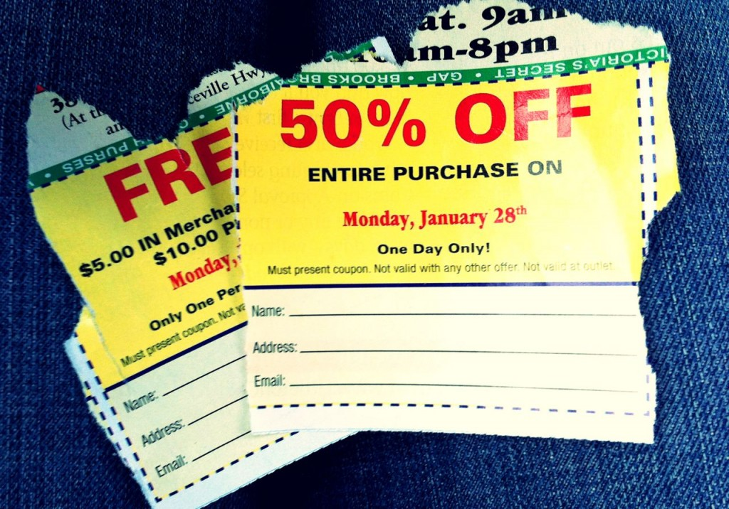 thrift store coupons