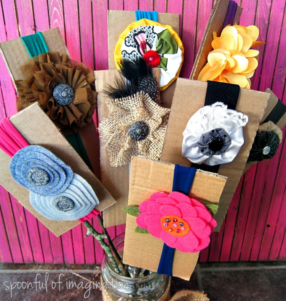 DIY headband bouquet