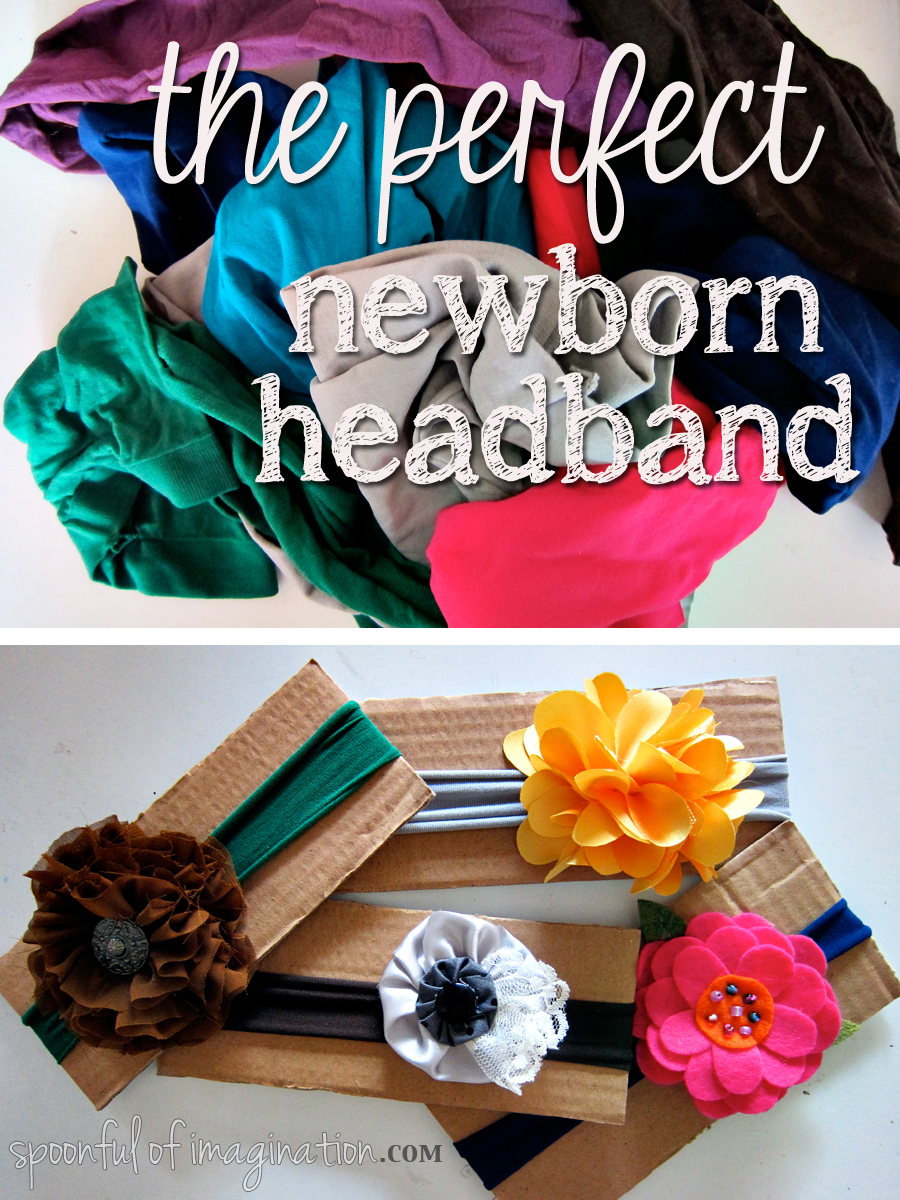 Pantyhose headbands for babies
