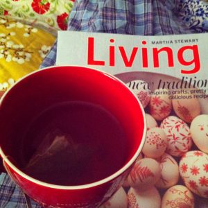 Magazine and tea