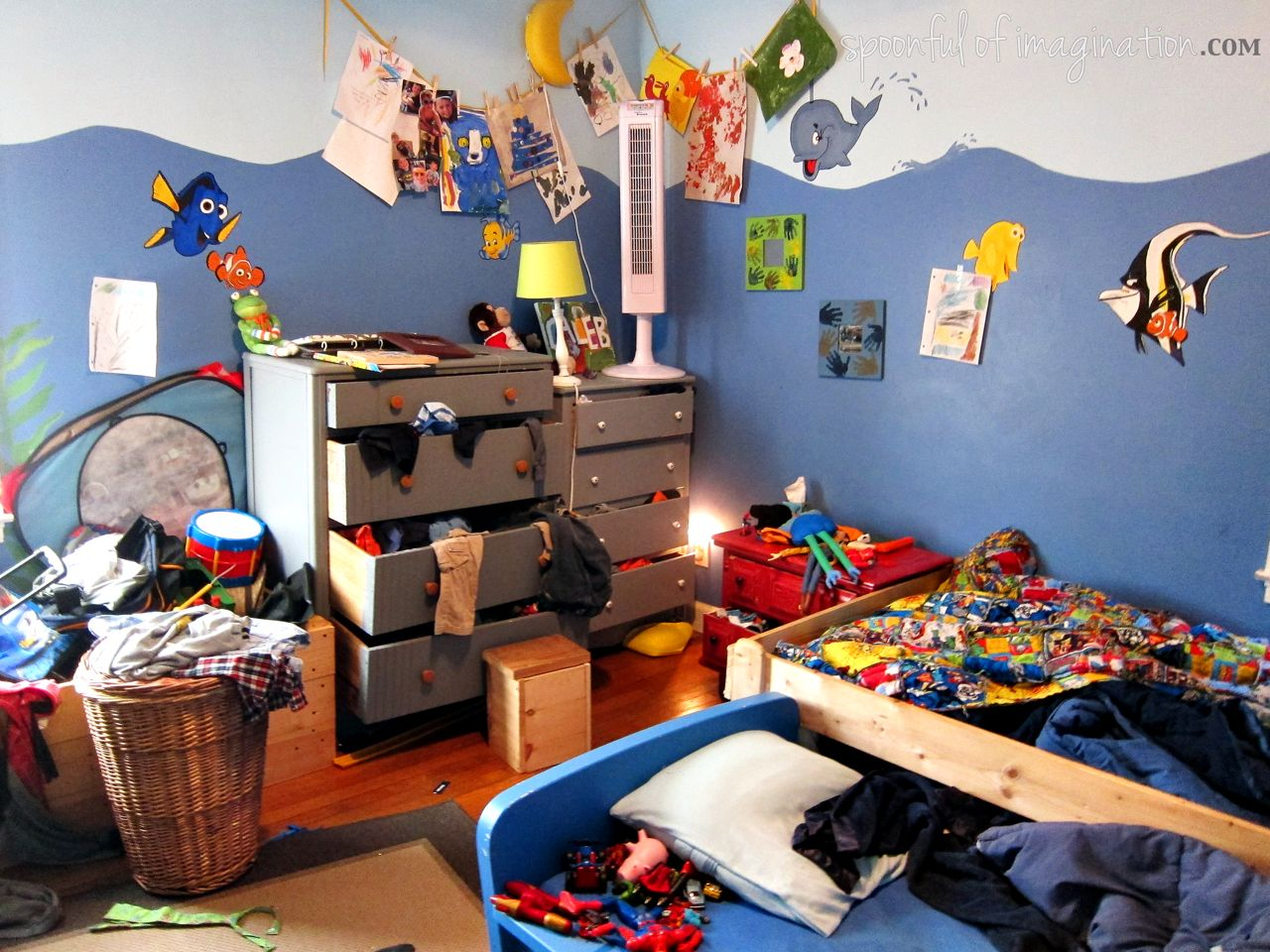Childs Bedroom Bin