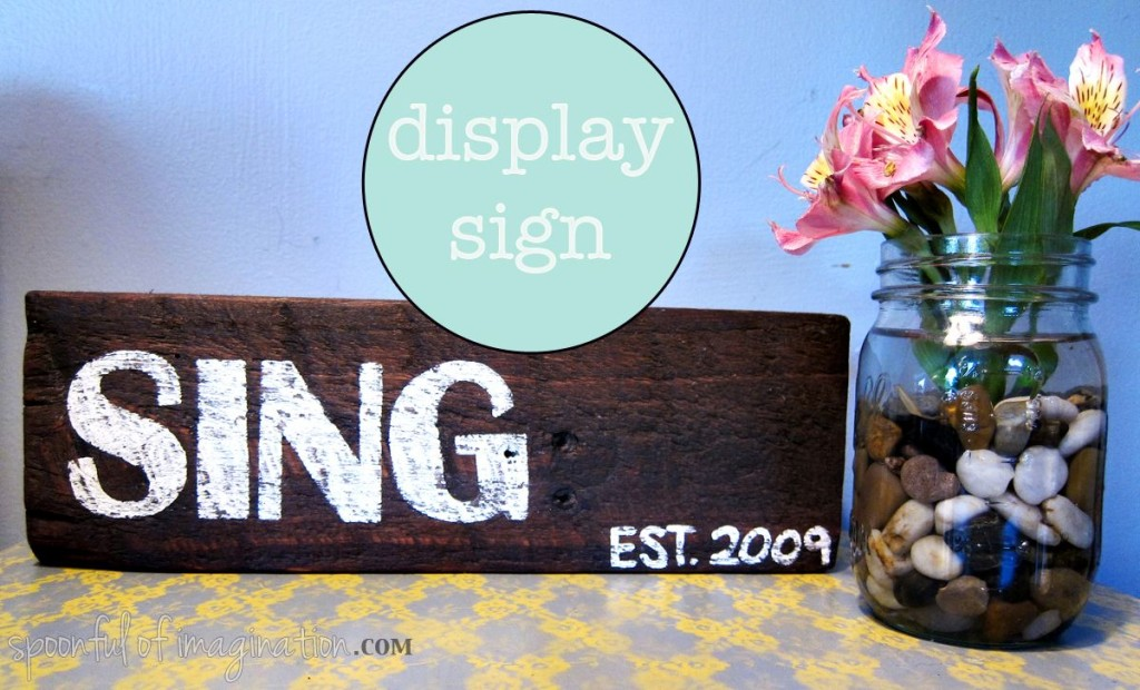 display sign