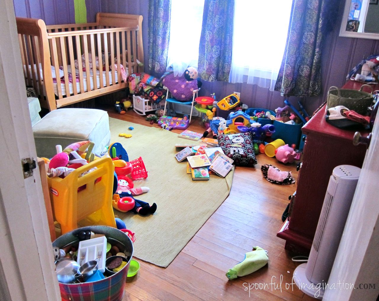 Messy Girls Room Spoonful Of Imagination