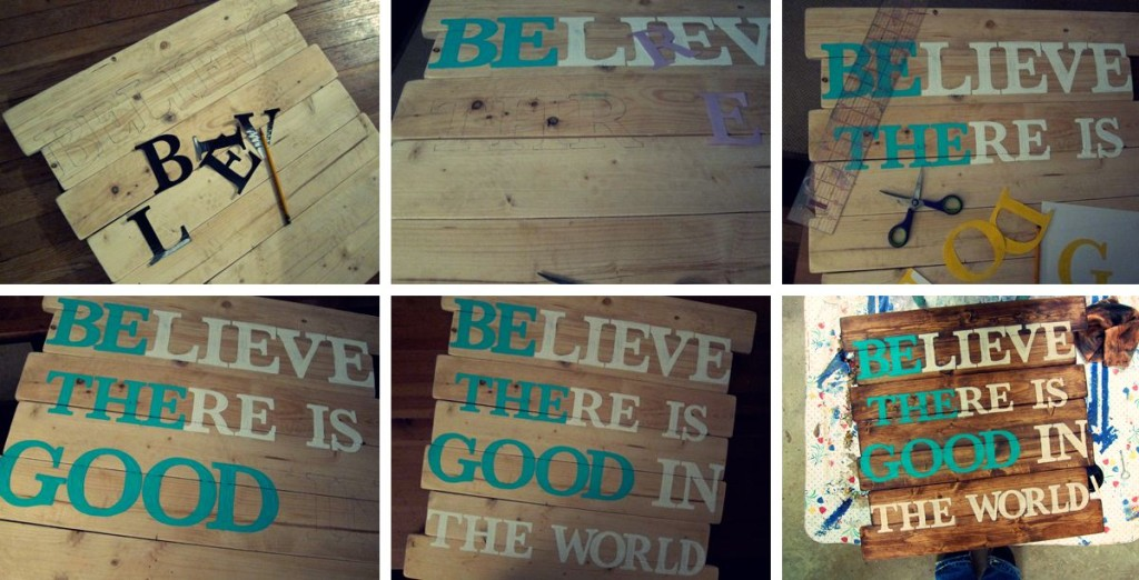 Be the Good in the world sign