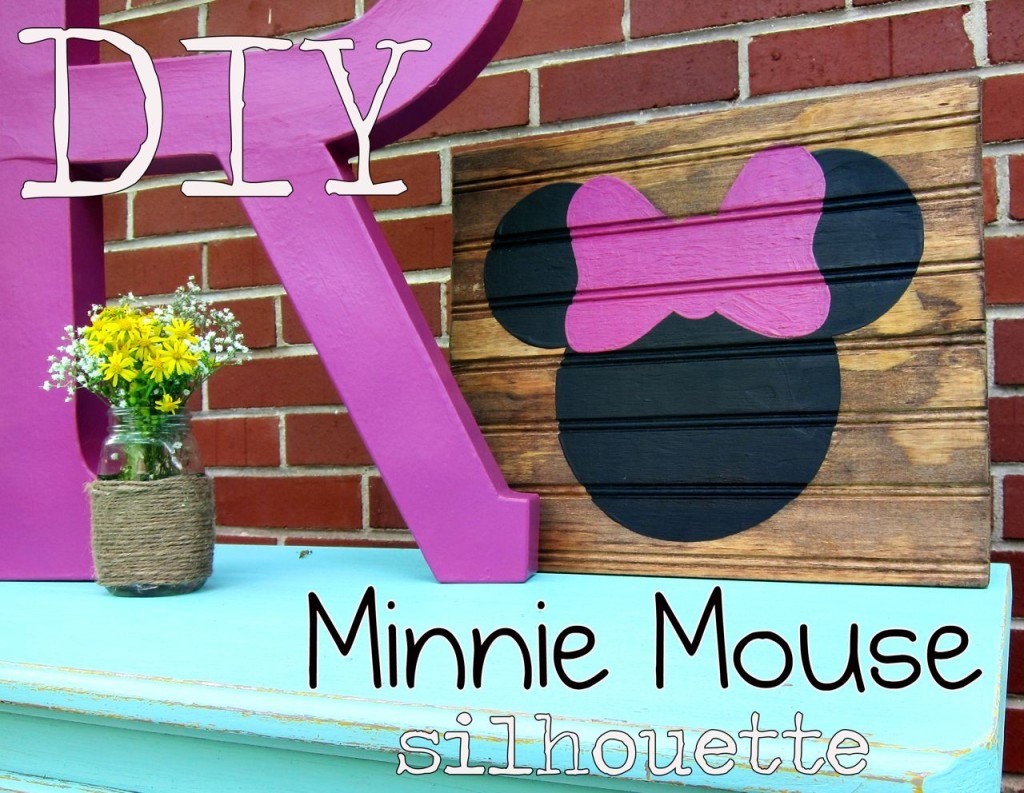 DIY minnie mouse silhouette