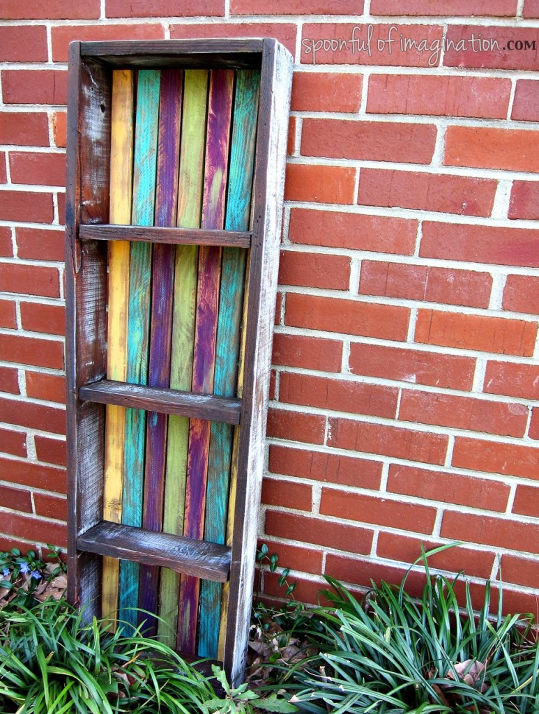 DIY Colorful Shelf