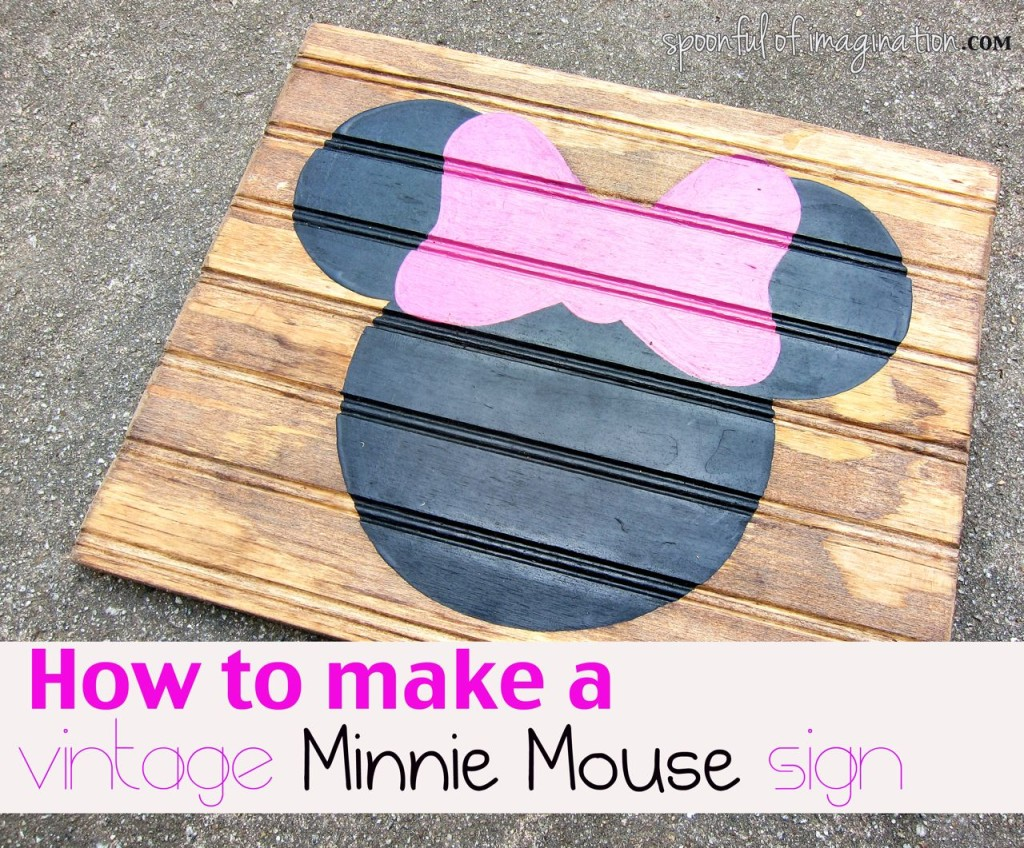 how to make a minnie mouse sign