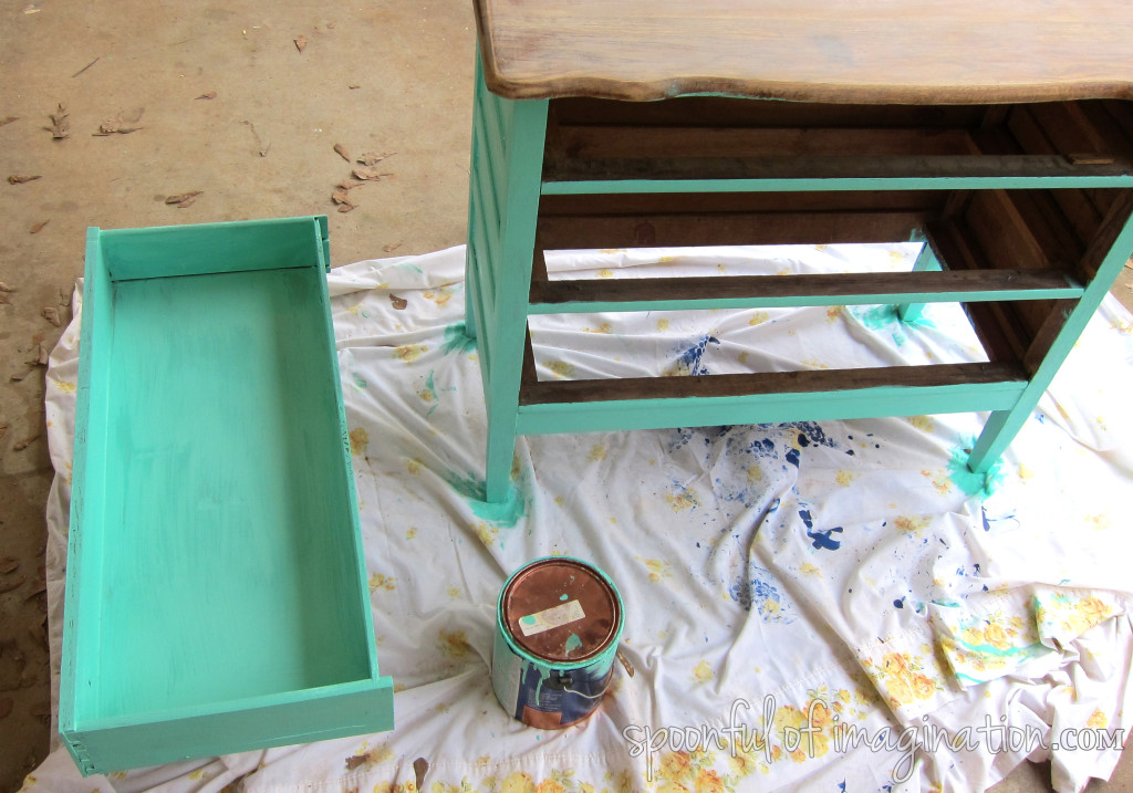 painting a dresser
