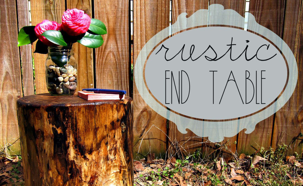 rustic DIY end table2