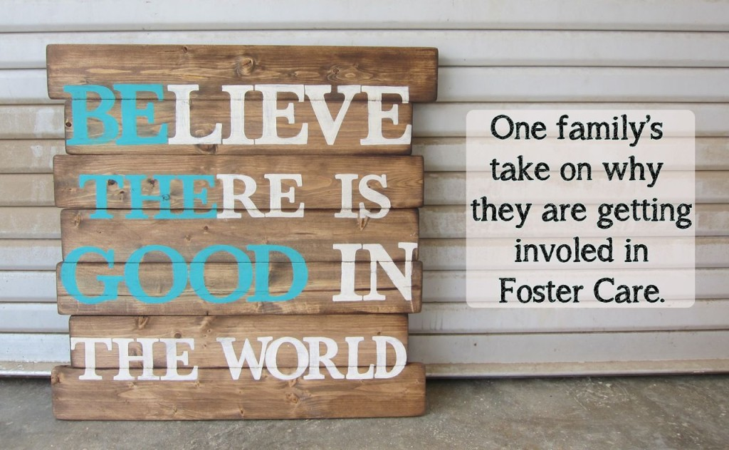 why get involved in foster care