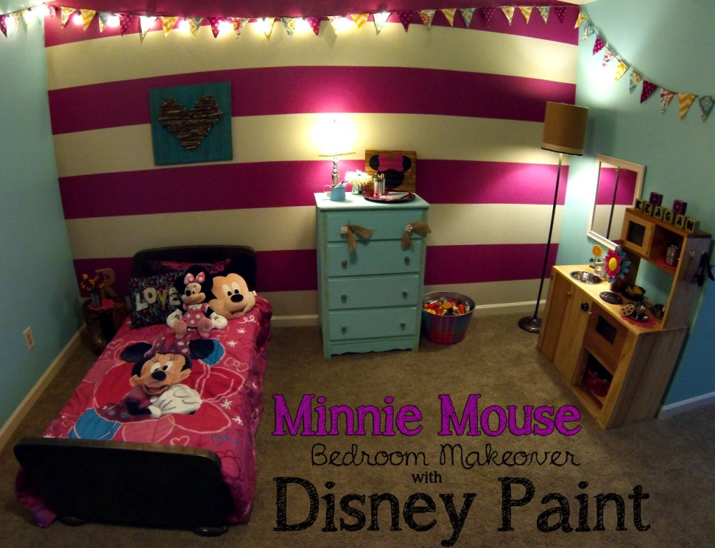 Minnie Mouse Bedroom Reveal Spoonful Of Imagination - Minnie mouse bedroom decor for toddler