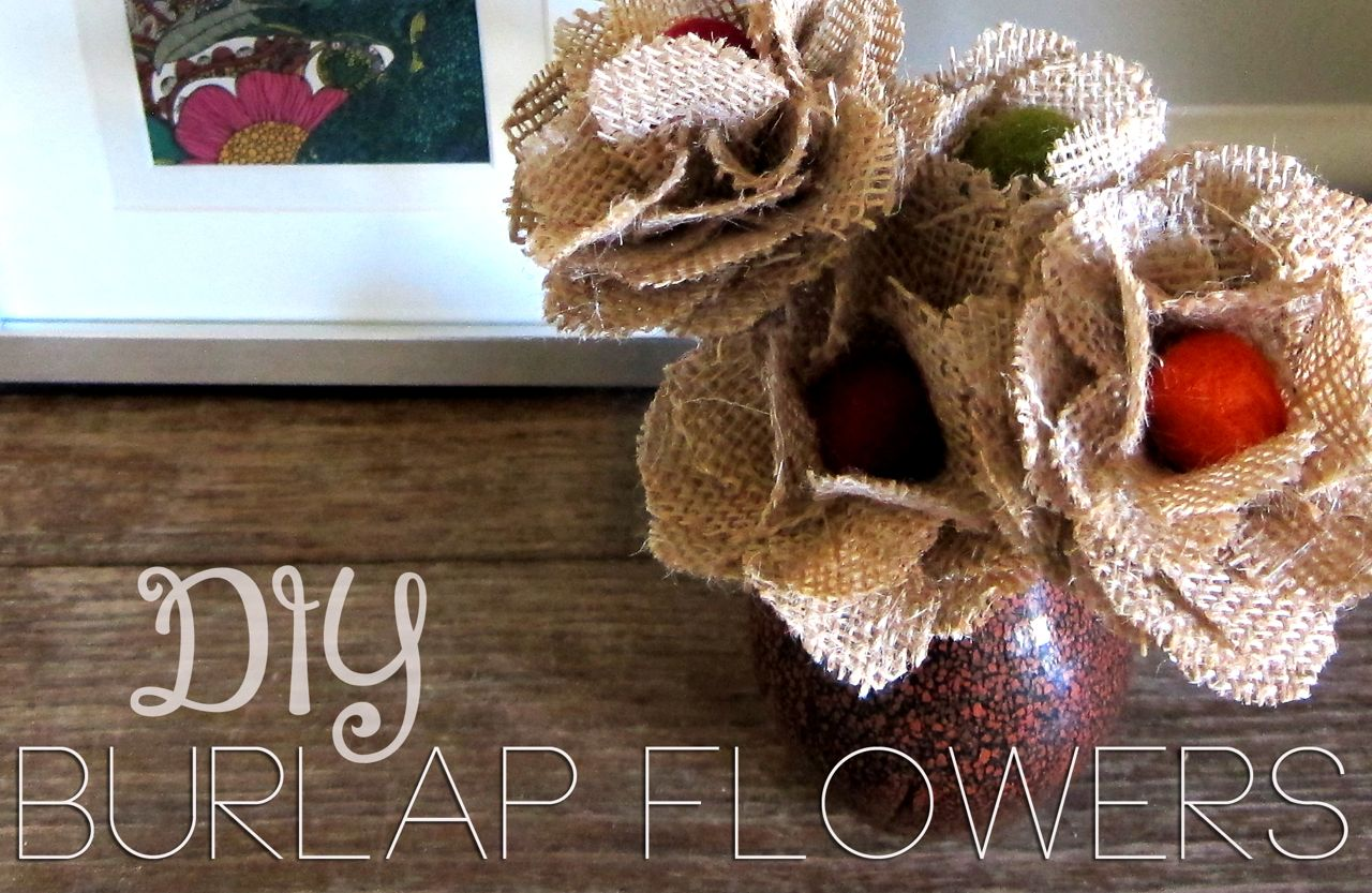 Diy burlap flowers spoonful of imagination for Diy jute