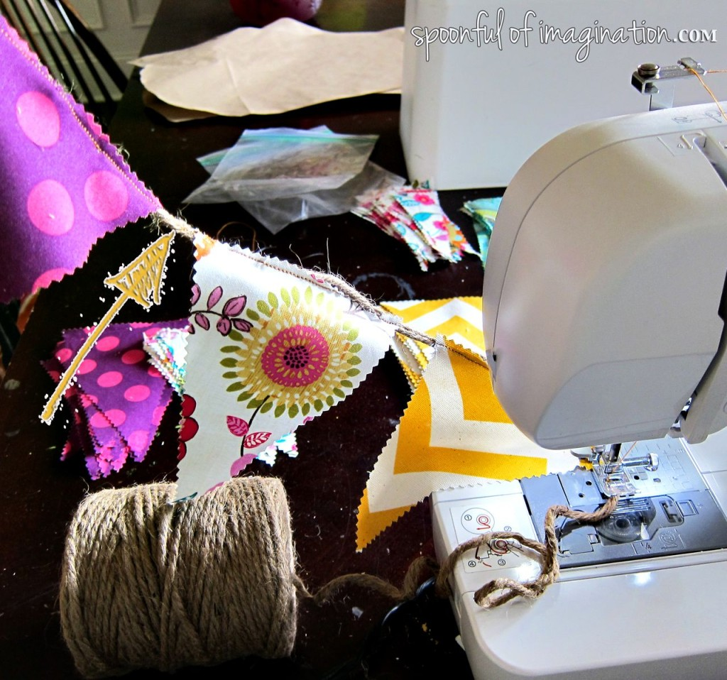 making fabric bunting