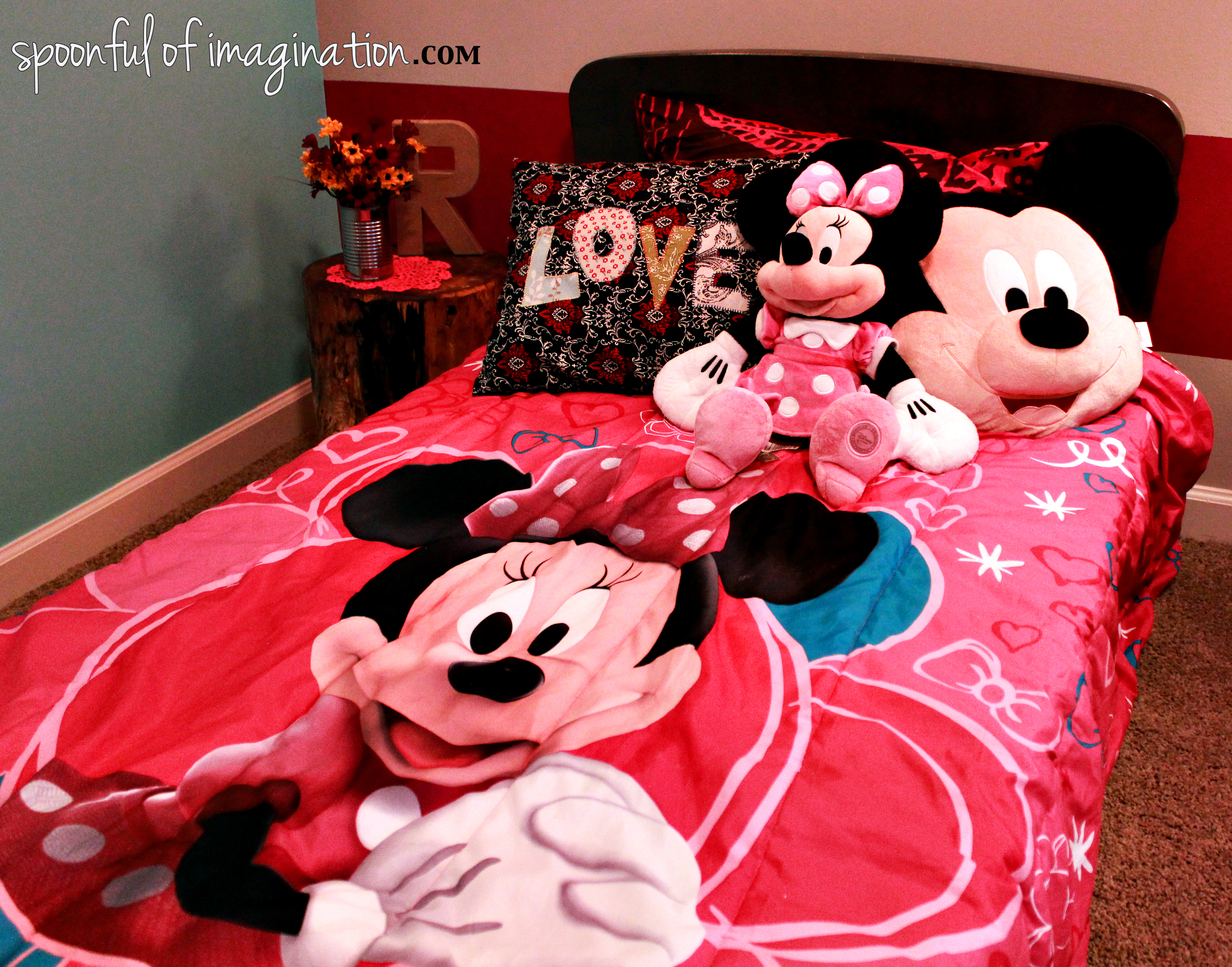 Pink Minnie Mouse Bedroom Decor Minnie Mouse Bed Spoonful Of Imagination