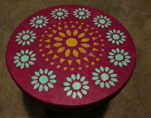 painted step stool