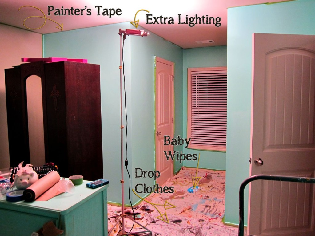 Tips For Painting A Bedroom Fascinating Minnie Mouse Bedroom Reveal  Spoonful Of Imagination Design Ideas