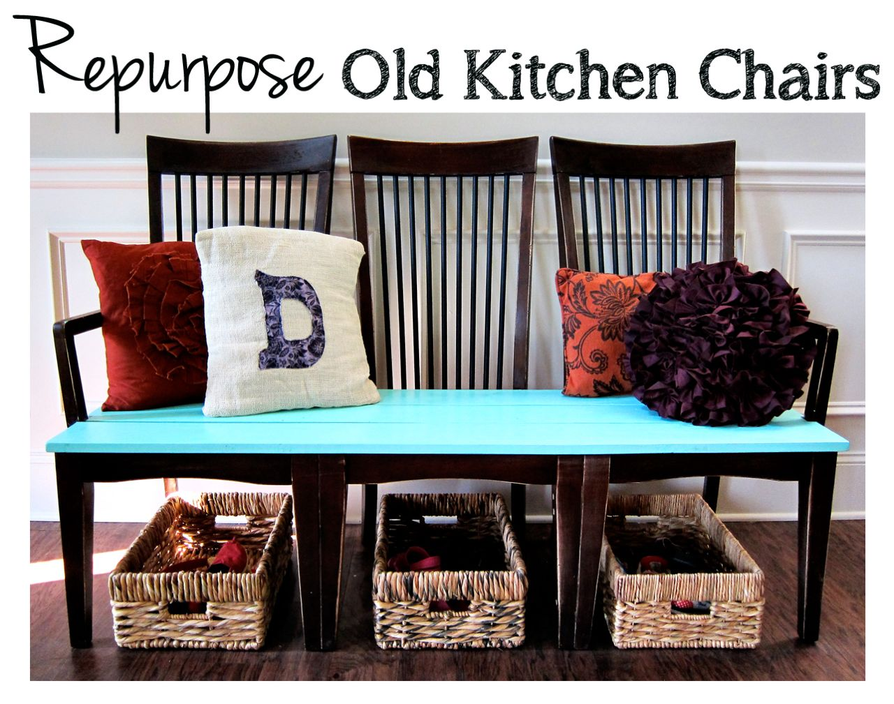 Reusing Old Furniture repurpose old kitchen chairs - spoonful of imagination