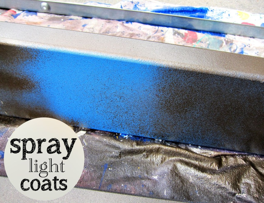 spray paint light coats
