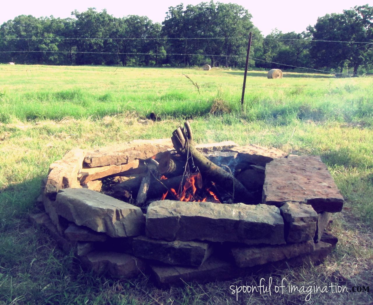 building a fire pit spoonful of imagination