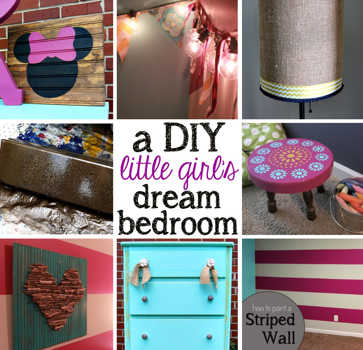 Little Girls Bedroom DIY