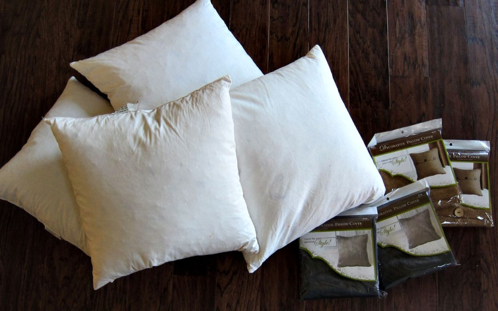 make cheap throw pillows