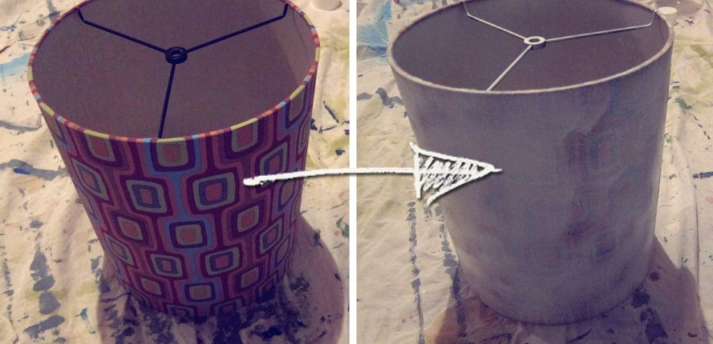 Diy Burlap Lamp Shade Spoonful Of Imagination
