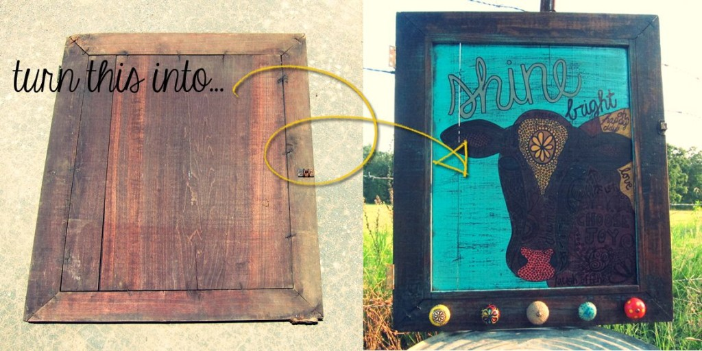 turn an old door into an art piece