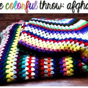 colorful afghan throw blanket