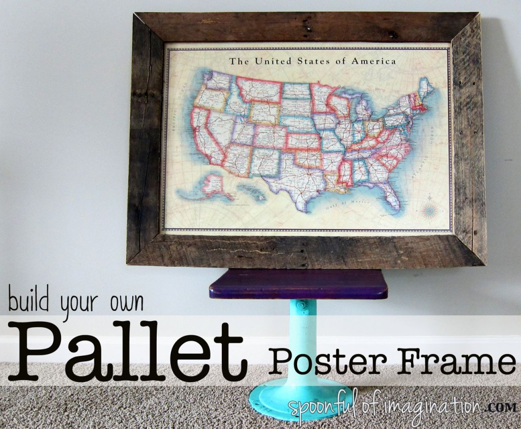 diy pallet frame poster size spoonful of imagination