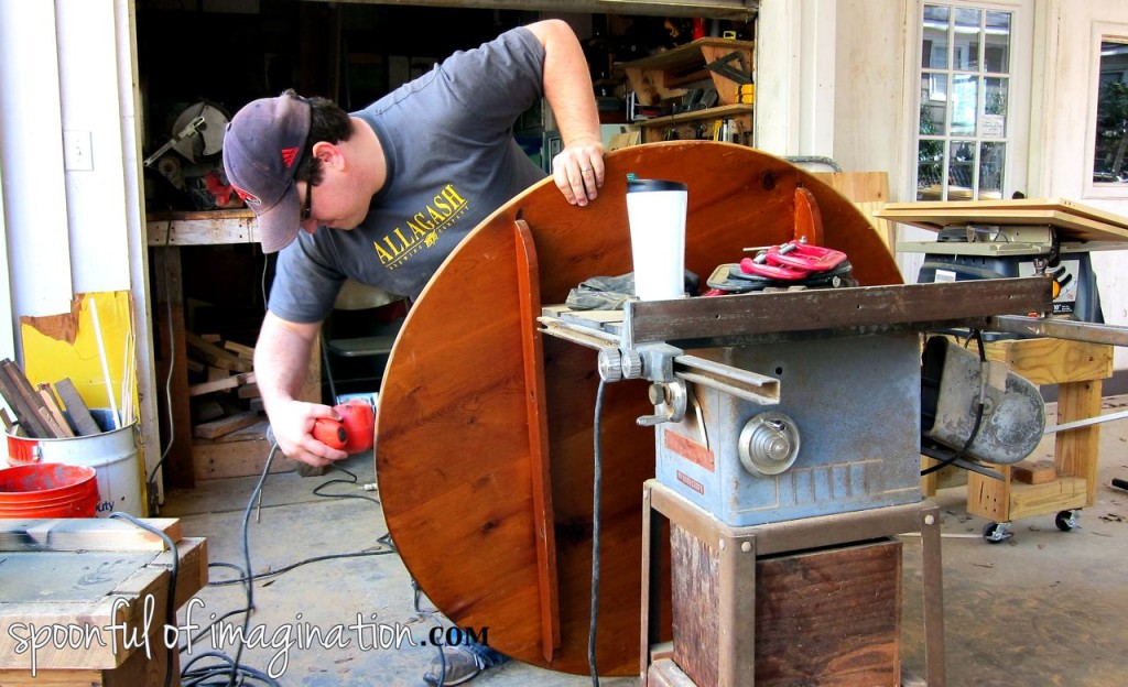 sanding_an_old_table