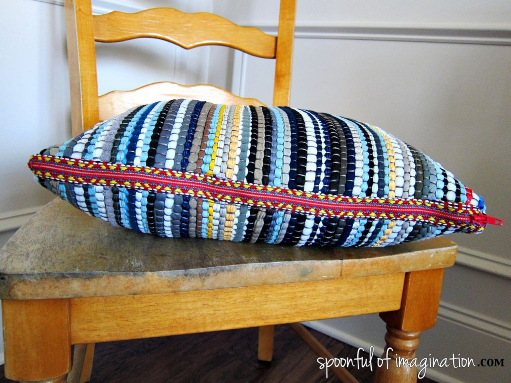 DIY Rug Pillow