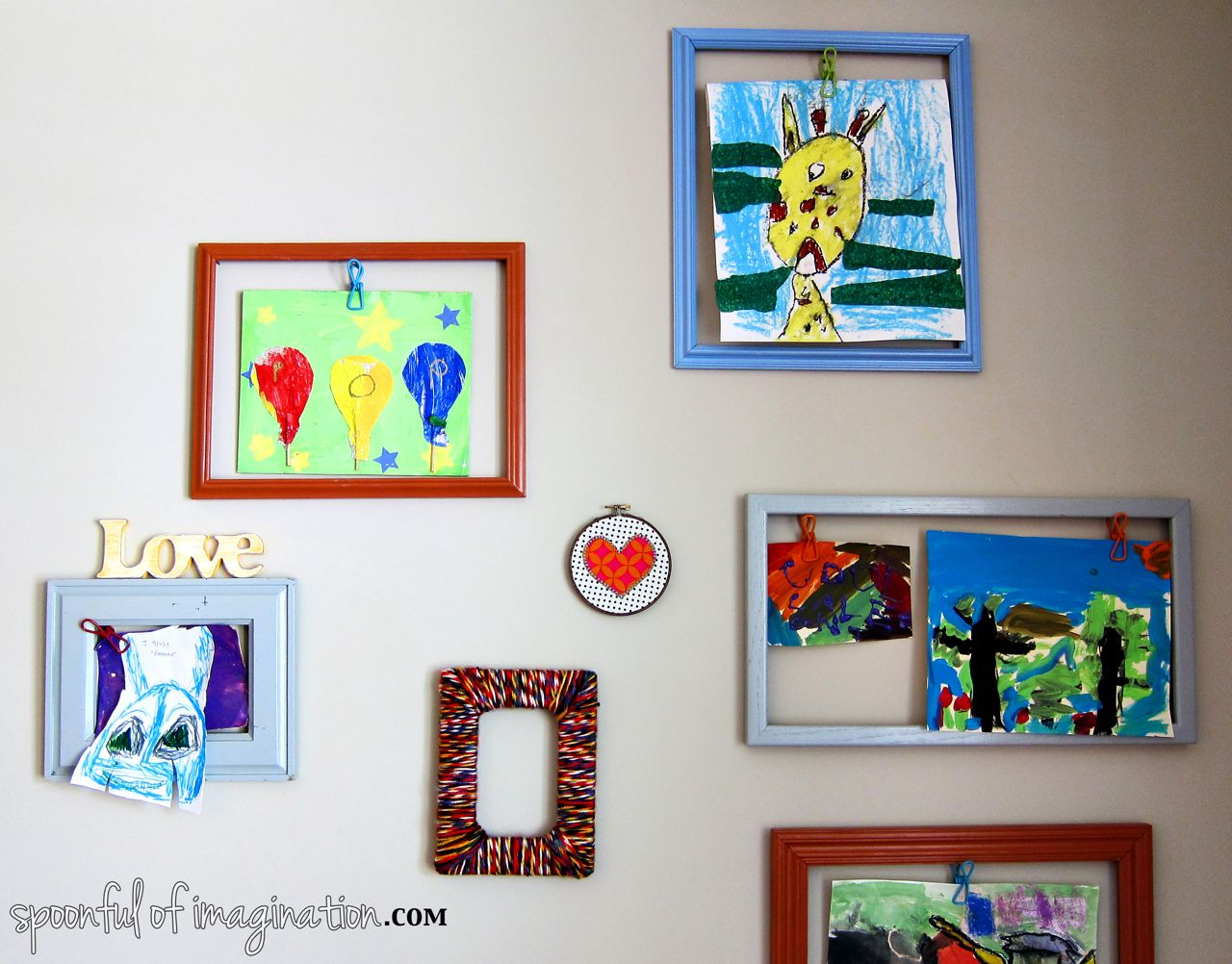 DIY Yarn Picture Frame - Spoonful of Imagination