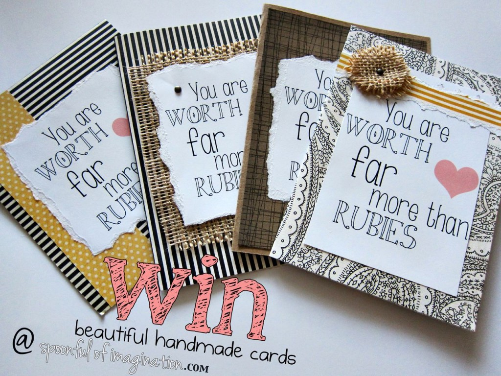 DIY Burlap Greeting Cards