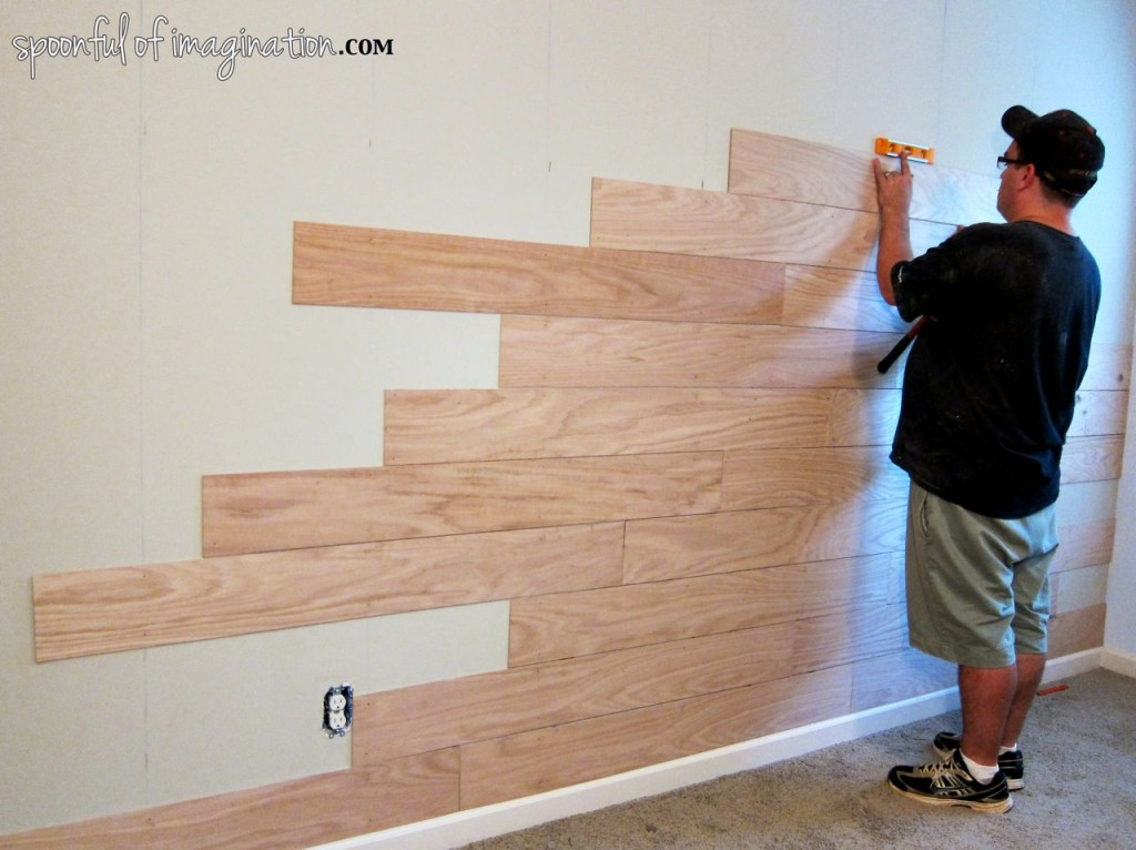 Diy Plank Wall Spoonful Of Imagination
