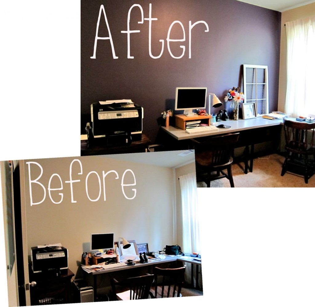 before and after painted room
