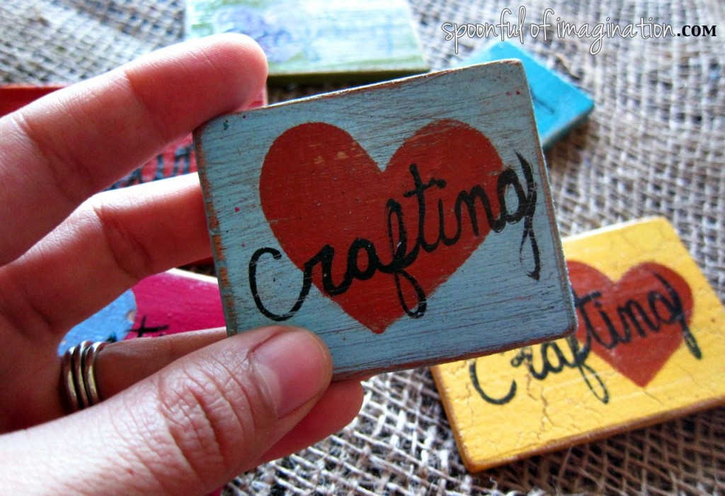 Love Crafting {DIY Wood Magnets}