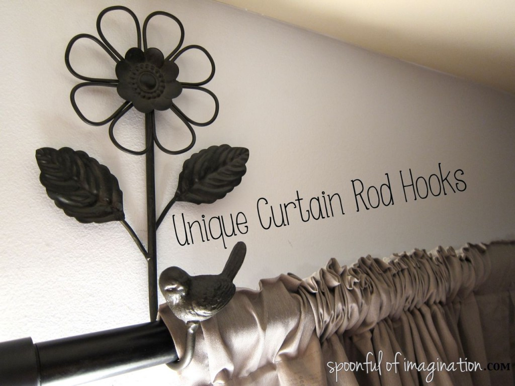 unique curtain rod hooks