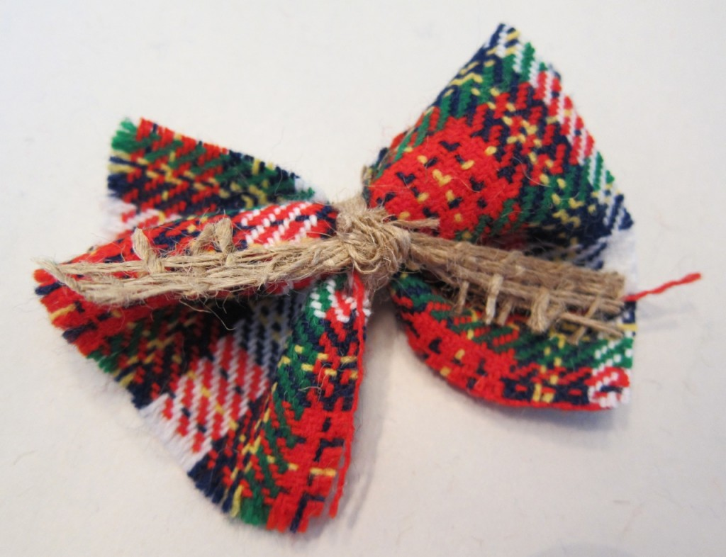 DIY Christmas Hair Bow or Bow Tie