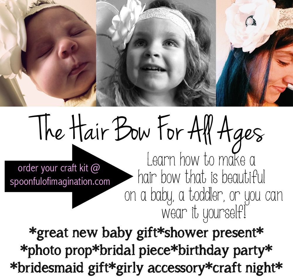 hair bow for all ages