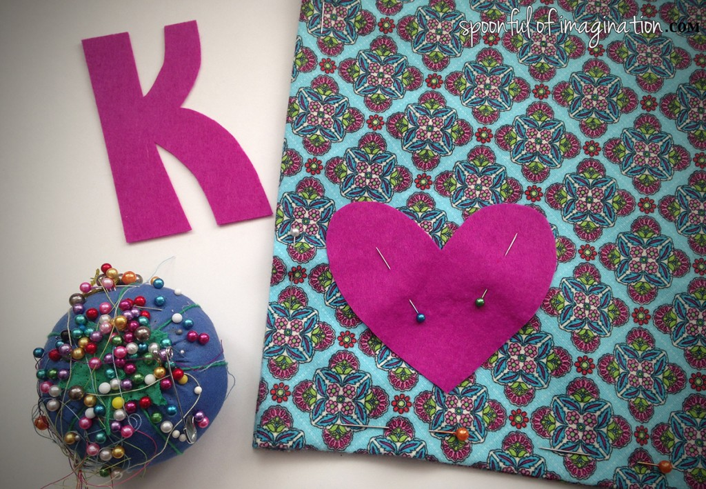 applique burp cloth