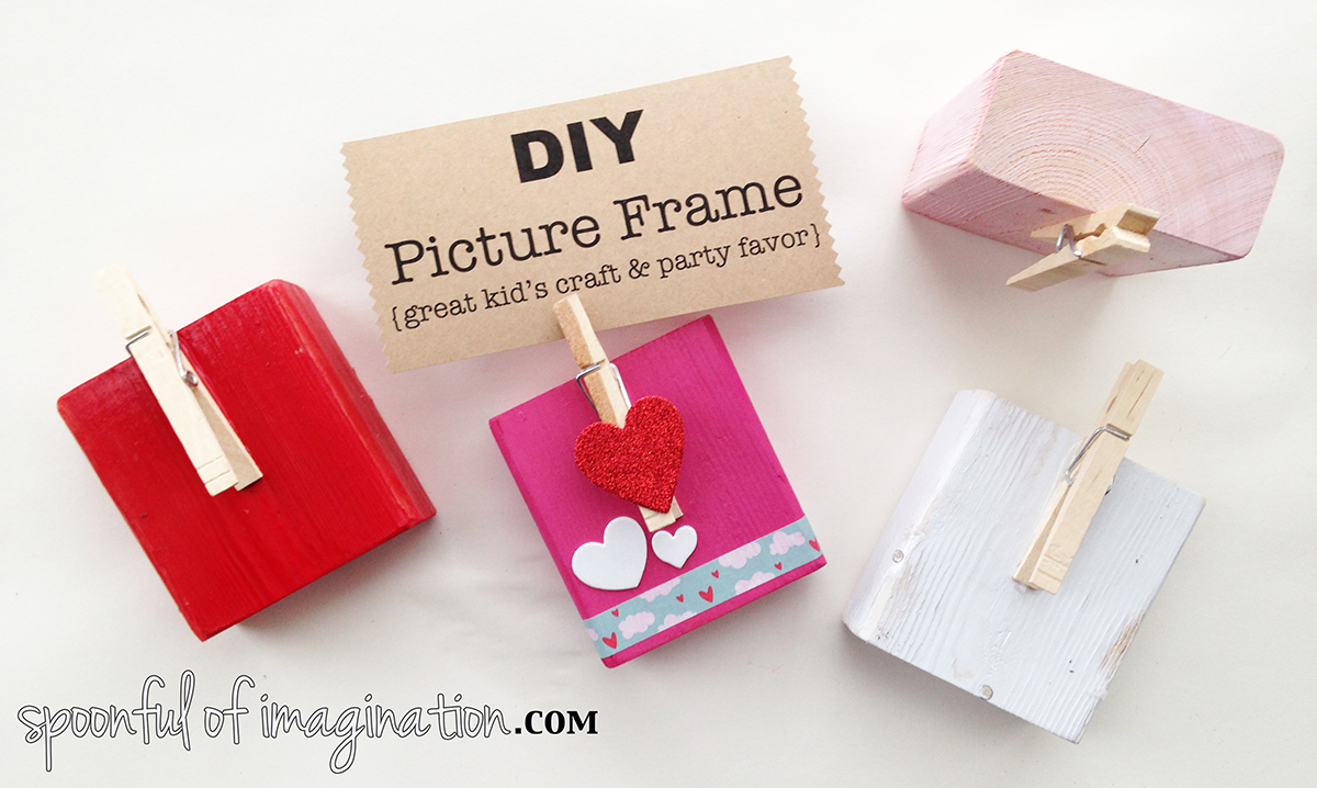 Kid S Picture Frame Diy Craft Party Favor Spoonful Of