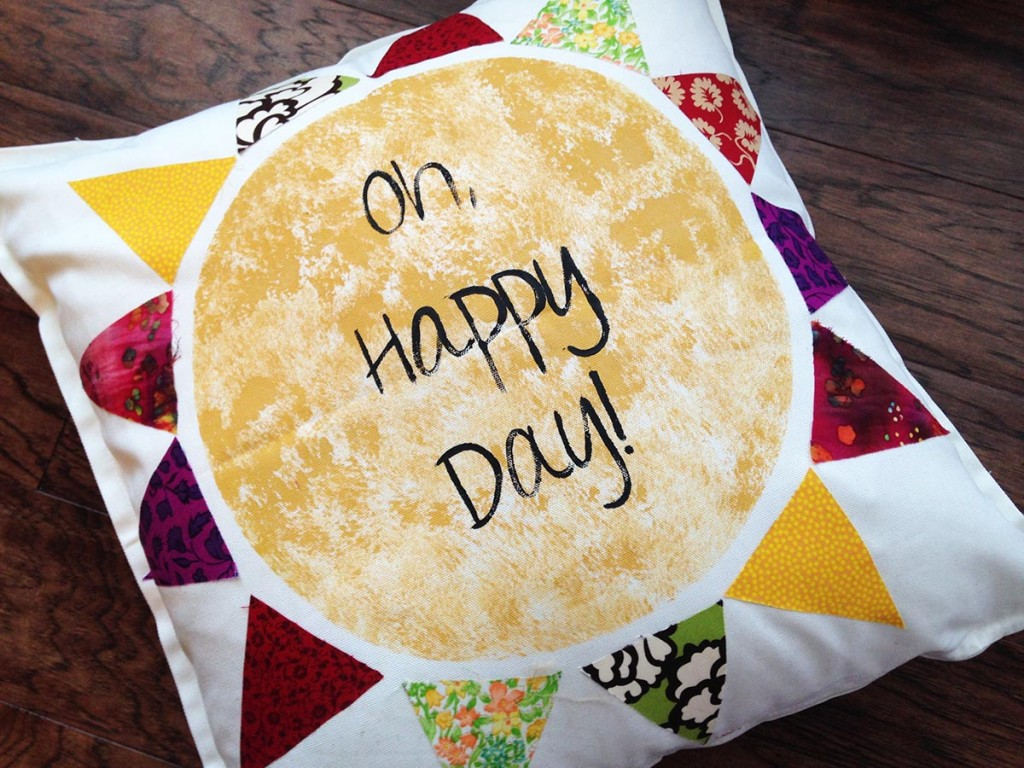 oh happy day throw pillow