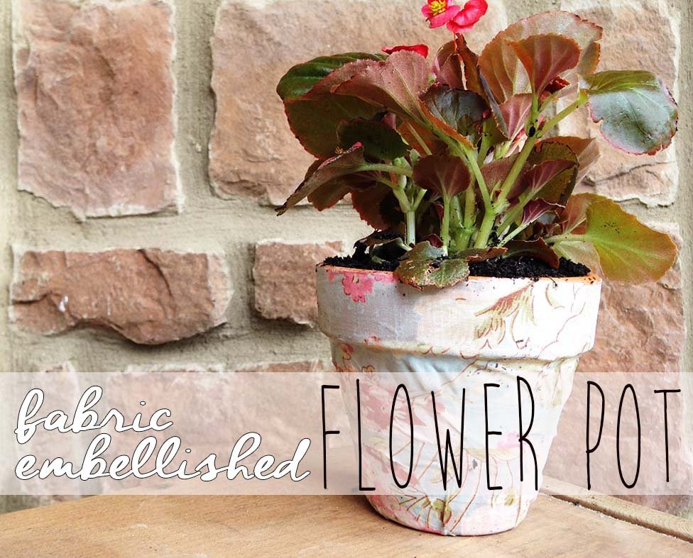 DIY Fabric Flower Pot